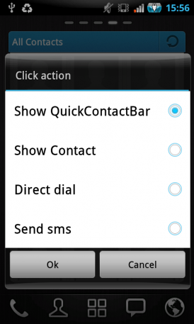 Contacts GO Widget для Android